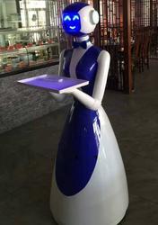 Тема Ресторан гуманоид Ресторан умный робот блюдо доставка Сервис робот