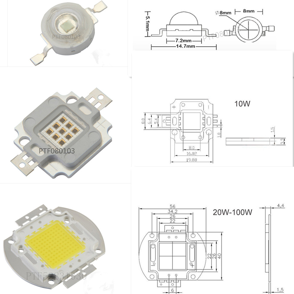 50Pcs Heat Sink Led Universal Aluminum Plate High Power 1W 3W 5W New Ic gu