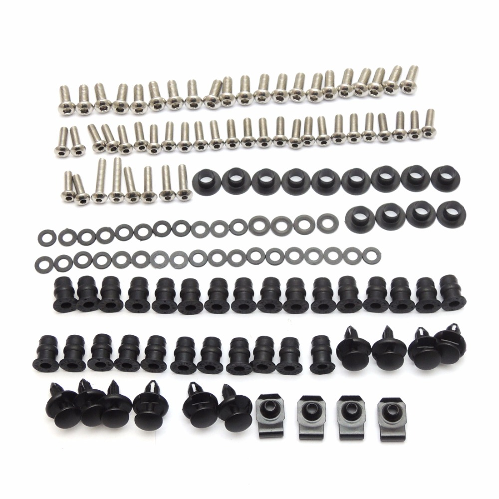 For Kawasaki 2005 2006 Ninja ZX-6R Fairing Bolt Screws Kit Fasteners Nuts Washers For Kawasaki Ninja ZX-6R 2005 2006