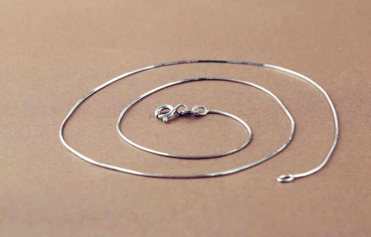 8 stylów 925 srebro naszyjnik srebro naszyjnik łańcuch DIY naszyjnik na obojczyk biżuteria
