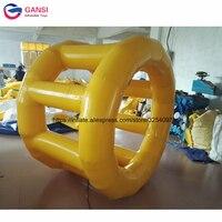 Высокое качество человеческого хомяка надувной валик для плавания, желтый цвет надувной круг для купания для аквапарка