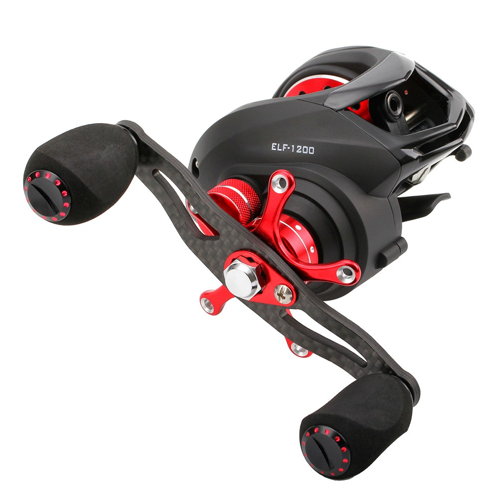 ФОТО SeaKnight ELF1200 14BB Baitcasting Carbon Fiber 169g Ultralight Fishing Reel Two Brake Systems 6.4:1 Baitcasting Fishing Reel