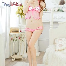 E&A Halter Sleepwear Women Sexy Lingerie Porno Underwear Lady Erotic Exotic Set Female Sweet Bra Panties Lace Brassiere Intimate