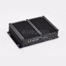 Новое поступление безвентиляторный мини-PC Windows i3 5005U процессор 8 ГБ Оперативная память mSATA 3.0 SSD 2 * RS232 com Порты и разъёмы Промышленные ПК прочный компьютер PC