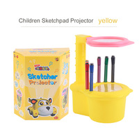 Hot OCDAY LED0018 Creative Children Kid Sketchers Drawing Painting Toys Plastic Sketchpad Projector Drawing Boards For