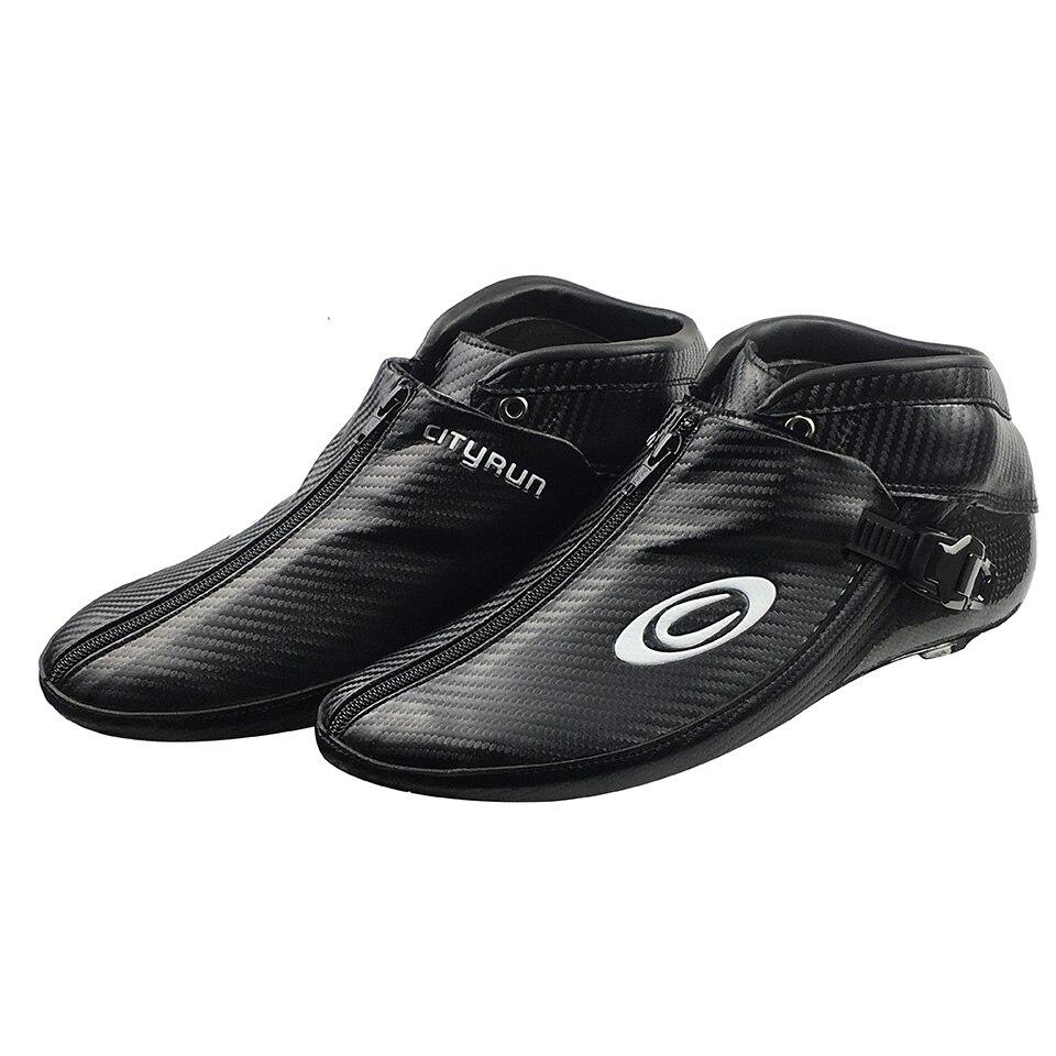 Cityrun Inline Patins à roulettes de Vitesse En Fiber De Carbone Boot pour Adulte Enfants Hommes Professionnel Concurrence Vitesse De Patinage Chaussures Patins SX12