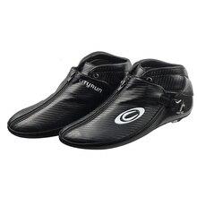 Cityrun Inline Скорость роликовые коньки углеродного волокна загрузки для взрослых детей Для мужчин профессионального конкурса Скорость катание обувь Patins SX12