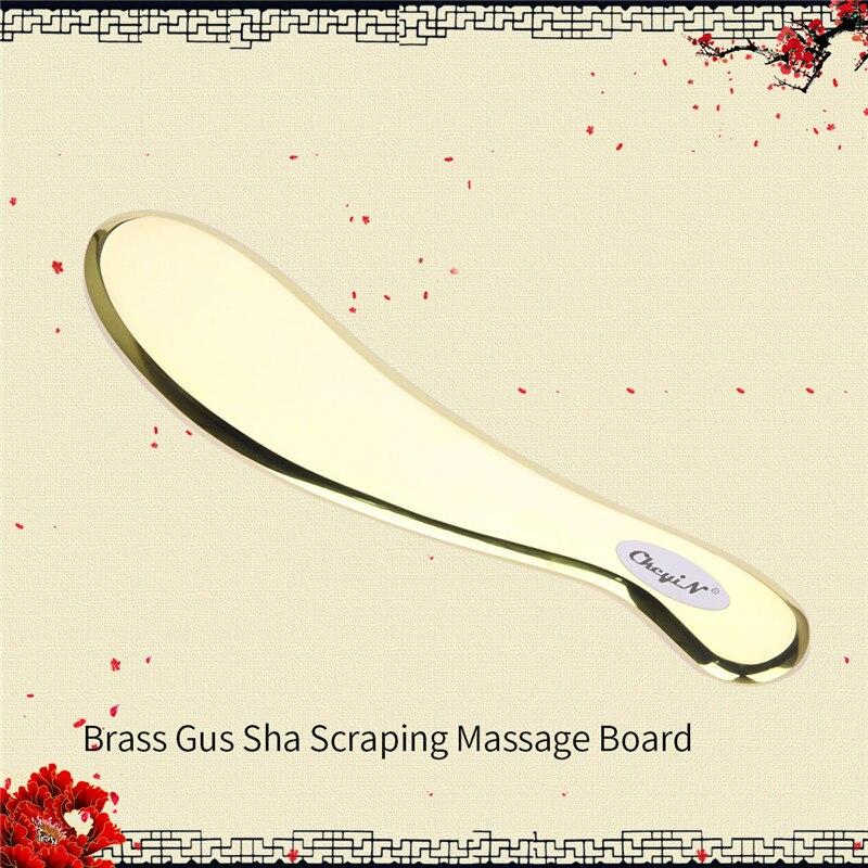 Classe médica Cobre Raspadores Gua Sha Guasha Ferramenta Massagem Acupuntura Terapia Massager Do Corpo Da Placa De Metal Em Aço Inoxidável