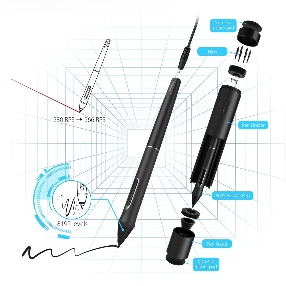 XP-Pen Artist16Pro dibujo tableta Monitor gráfico tableta Digital electrónica con teclas exprés y soporte ajustable - 3