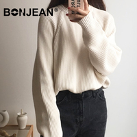 Winter Sweater Women Jumper Korean Style Pullover Knitted Top Oversized Sweater Pull Femme Sueter Mujer Streetwear Z247