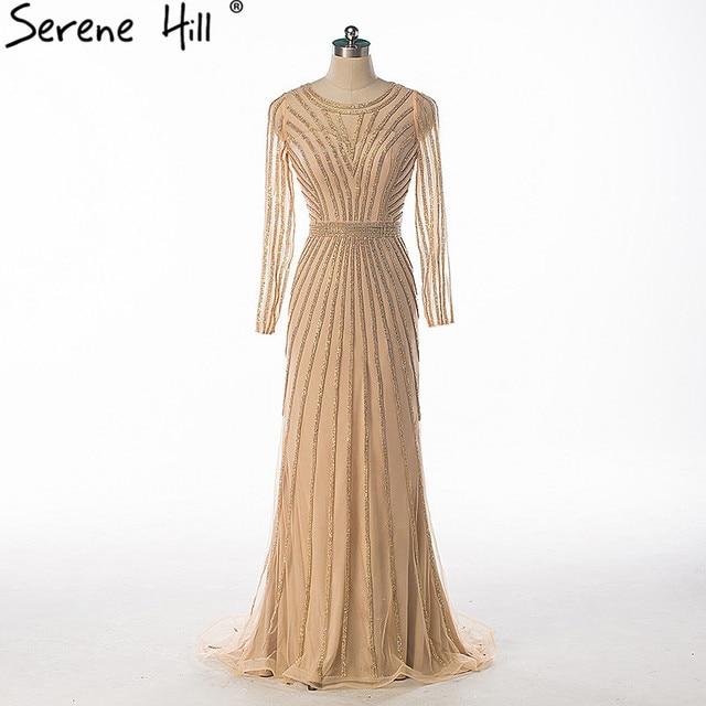 С длинным рукавом AB алмаз вечернее платье Тюль Люкс Кристалл Русалка элегантные вечерние платья Новый стиль 2017 спокойной Hill