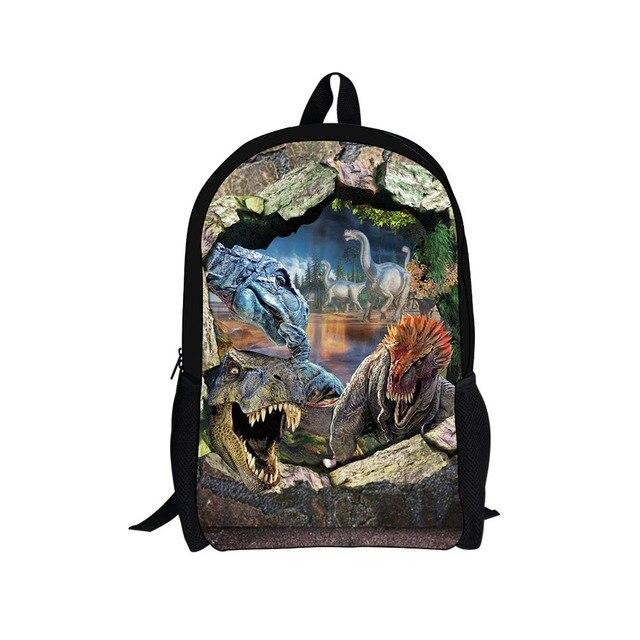 2016 fashion children school bags small 3d animals dinosaur backpack boys schoolbags child mochila bag kids back pack infantil