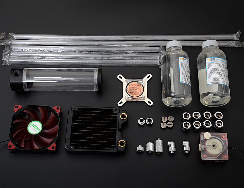 Syscooling rigid tube water cooling kit new water pump cooling for hard tube system