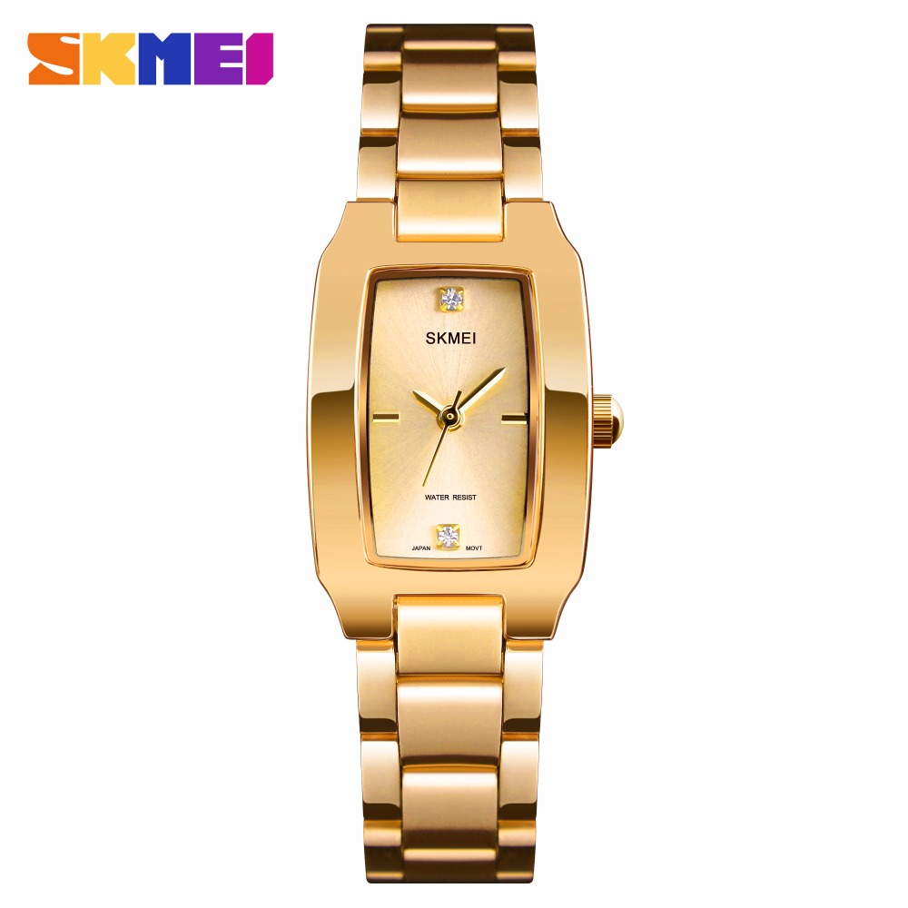 SKMEI Quartz Ladies Watches Fashion Luxury Stainless Steel Women Bracelet Watch Women Watches Waterproof Brand Relogio Feminino