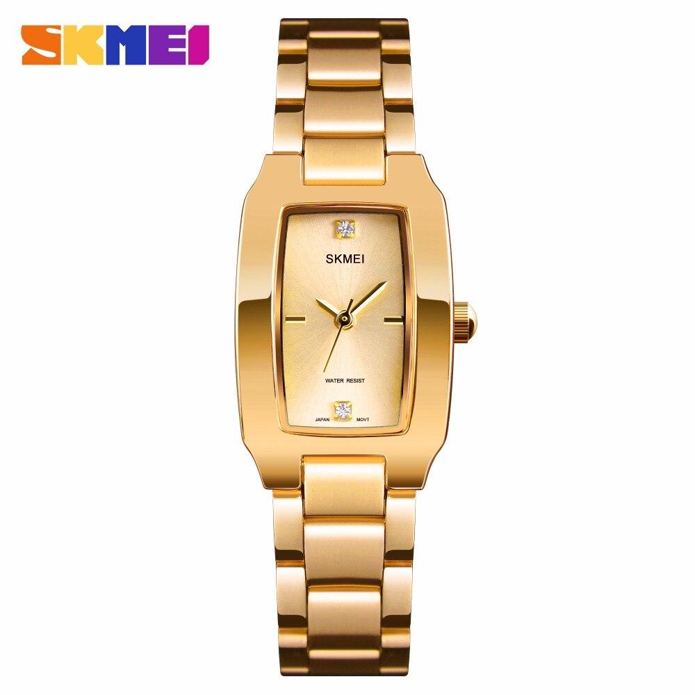 SKMEI Quartz Ladies Watches Fashion Luxury Stainless Steel Women Bracelet Watch Women Watches Waterproof Brand Relogio Feminino