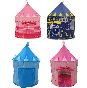 Cubby dom zabaw teatr dla dzieci zamek kartonowy namiot kopułowy kryty zabaw na zewnątrz zabawki namioty dla dziewczyna chłopiec dzieci prezenty niebieski różowy tanie i dobre opinie Domki Chemicznego Łatwe w montażu Ekologiczne Wodoodporna Powlekany pcv Inne ploster