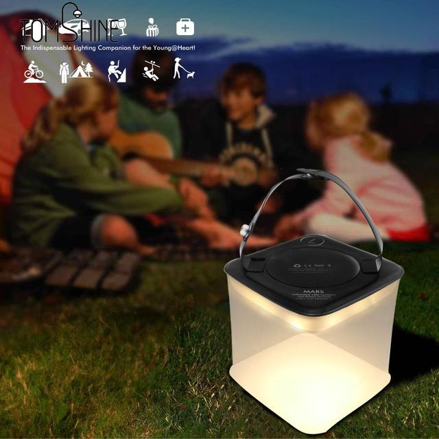 Portable Led Camping Light Emergency Inflatable Foldable Decorative Lamp Square Round Collapsible Flashlights Solar Lamps