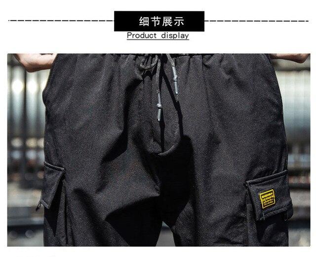 2020 Spring Hip Hop Joggers Men Black Harem Pants Multi-pocket Ribbons Man Sweatpants Streetwear Casual Mens Pants M-3XL 44