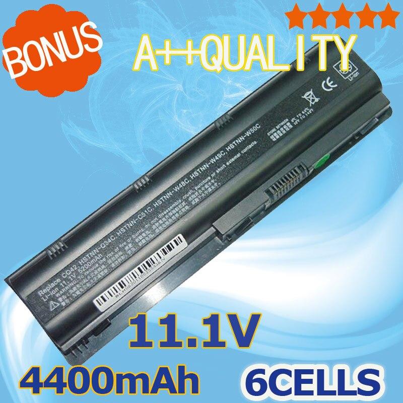 4400 mAh 6 cellules batterie d'ordinateur portable Pour HP MU06 MU06XL G4 G6 G7 G32 G42 G56 G62 G72 CQ32 CQ42 CQ43 CQ56 CQ62 CQ72 DM4 593553-001