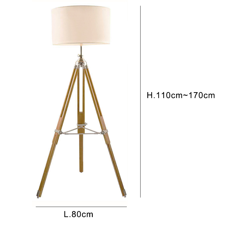 Post Modern Floor Light Tripod Base Kung Black White Lampshade Metal  Creative Nightstand Lamp Wood Floor Lamp 6W E27 Led Light In Floor Lamps  From Lights ...