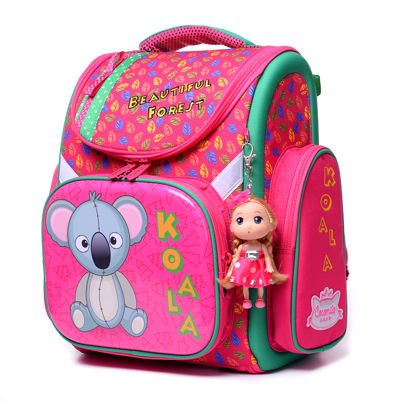 2018 Girls Boys Brand Primary School Backpack Cartoon Mochila Infantil Large Capacity Grade 1-4 Kids Cute Orthopedic School Bags children school bag minecraft cartoon backpack pupils printing school bags hot game backpacks for boys and girls mochila escolar