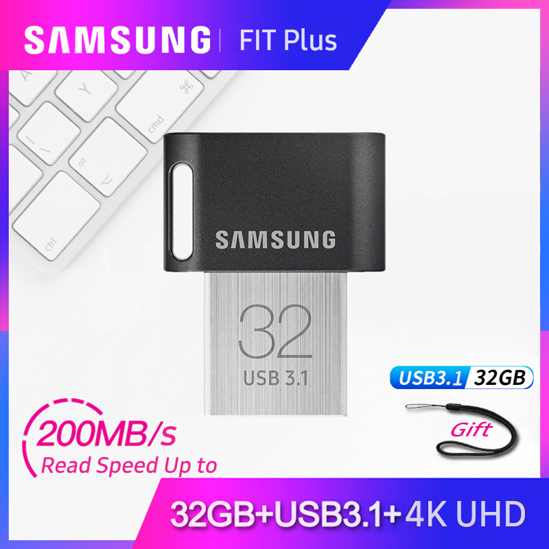 Samsung FIT USB3.1 Pen Drive 128gb 256gb Up To 300MB/s Memoria Usb Key Usb 3.1 Pendrive 64gb 32gb Up To 200MB/s  Mini Stick