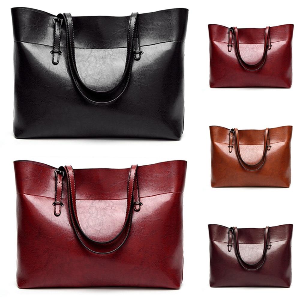2018 Fashion Spring Hobos Women Bag Ladies Leather Handbags Casual Tote Bag Big Shoulder Bags Messenger Bag For Woman