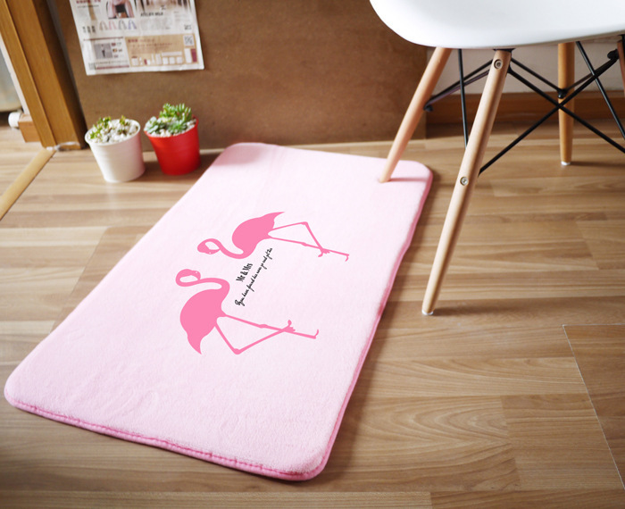 Pink Flamingo 50x80cm Carpet For Living Room Bedroom Rectangle Rugs ...