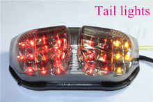 motorcycle parts LED Tail Light Turn Signals For FAZER FZ1 2006 2007 2008 2009 2010 Smoke