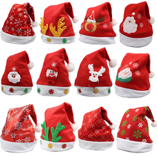 Adornos de Navidad sombreros de Papá Noel niños mujeres hombres niños niñas gorra para fiesta de Navidad accesorios S5010