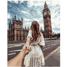 WEEN Paint by Numbers for Adults, DIY Canvas Painting by Numbers for Home Decoration-Woman's hand in hand 40x50cm hand in hand