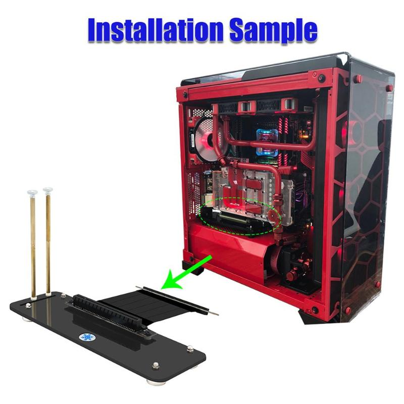 US $12 87 19% OFF|Graphics Cards Stand DIY ATX case PCI E external built in  kickstand Mounting bracket for pcie x1 x4 x16 riser cable R L Version-in