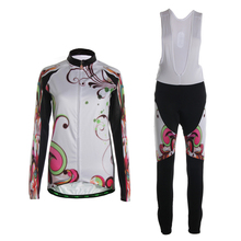 TVSSS Lengthy Sleeve Biking Jersey Units Winter Thermal Fleece Biking Bike Garments Go well with for Women Dice Biking Clothes