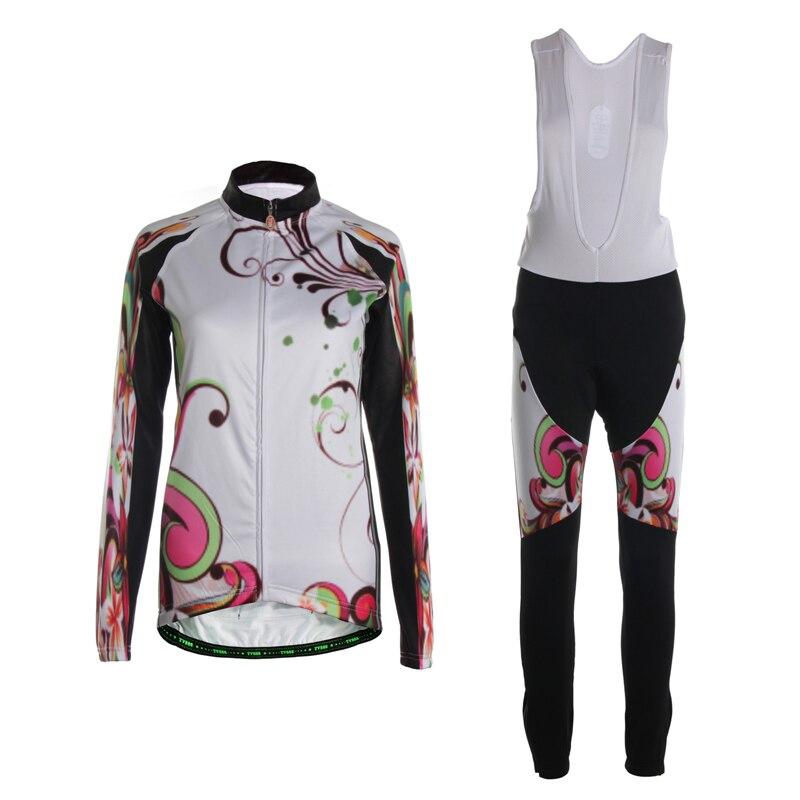 Tvsss с длинным рукавом Велоспорт Джерси Наборы для ухода за кожей зимние Термальность флис Велоспорт велосипед одежды костюм для дам Cube Вело...