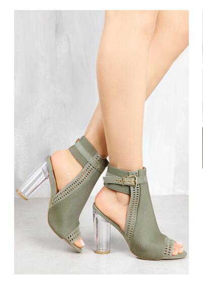 Sandalias Wtzgqv Transparentes Claras Zapatos Mujer Tacones Slingbacks hsQrCxotdB