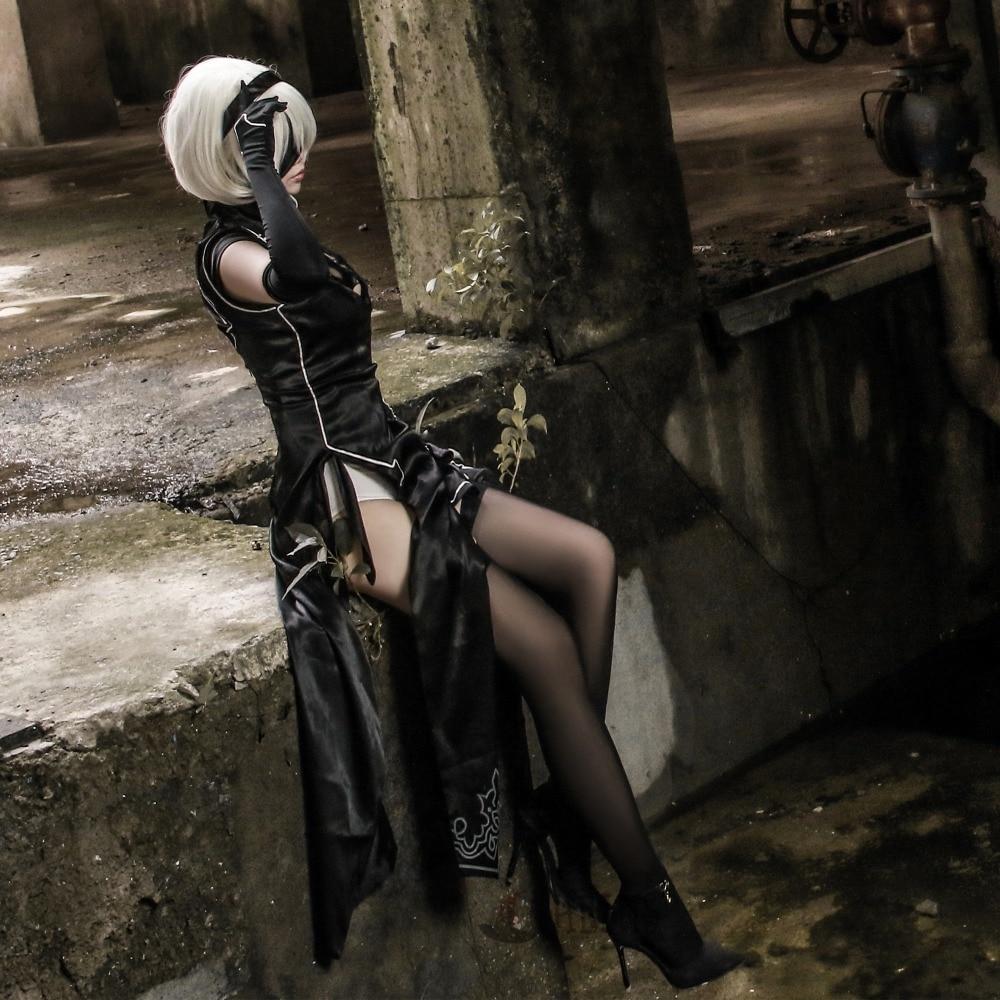 Athemis  NieR:Automata  Cosplay  YoRHa No. 2 Type B Cosplay Costume Sexy Cheongsam