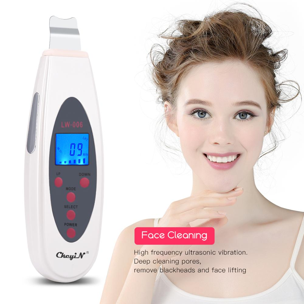 Ultrasonic Skin Scrubber Deep Face Cleaning Machine Remove Dirt Blackhead Peeling Lifting Anti Aging Facial Cleaner Massager 53