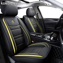 Kokololee skórzane pokrycie siedzenia samochodu dla Toyota rav4 życzenie Prado mark auris prius camry corolla korona chr pokrowce na siedzenia samochodowe