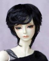 BJD doll wigs Pure black Imitation mohair short wigs for 1/3 1/4 BJD DD SD MSD doll European style hair wigs doll accessories