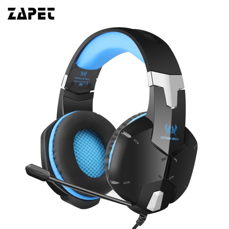 ZAPET Gaming Players  Gamer Headset Bass Stereo Noise Canceling Headphone  Over-ear Headphone 3.5MM plug with MIC for PC phone ovann x17 gaming stereo bass headset headphone earphone over ear 3 5mm
