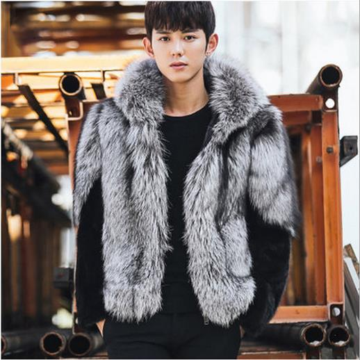 clobee men faux fur coats 2018 men 39 s winter thicken hooded. Black Bedroom Furniture Sets. Home Design Ideas