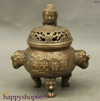 5.5インチ/中国の民俗コレクションの古いドラゴン香炉青銅