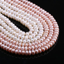 Natural Freshwater Pearls Beads High Quality 36 cm Punch Loose for Jewelry Making DIY Women Necklace Bracelet 7-8 mm