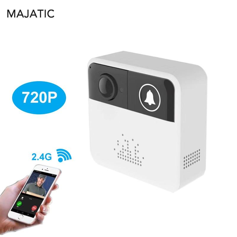 Majatic Mini Wifi Battery Doorbell with Camera 720P IP Video Intercom For Outdoor Door Bell Wireless Home Security Camera