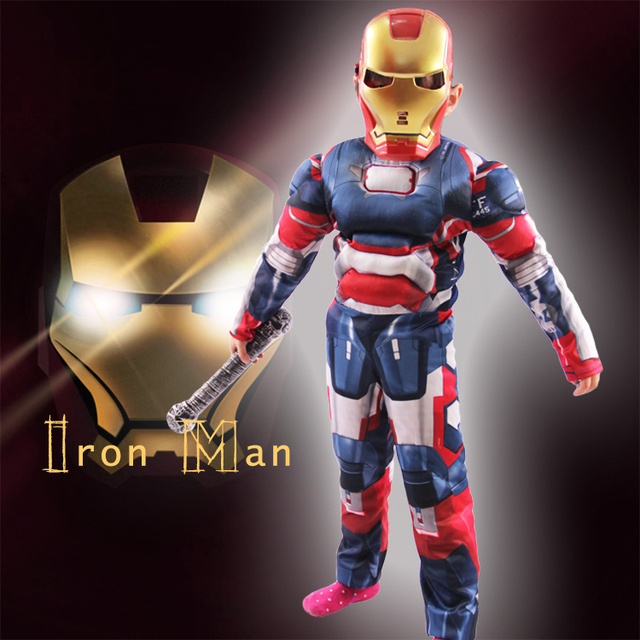Iron Man Mark 42 Costume with Muscles For Kids Child Cosplay Halloween Marvel (3 Designs) 4
