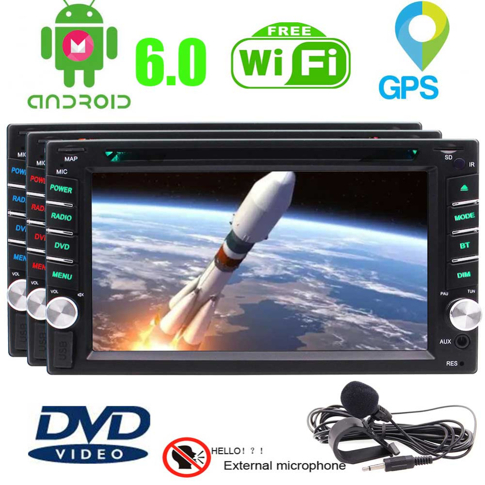 Eincar 6.2 Inch Double 2 DIN, Car Touchscreen DVD Video Player, Bluetooth GPS Navigation System/DVD/CD/VCD/SVCD/DIVX/MP3/MP4/MP5