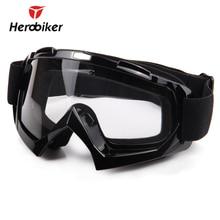 Herobiker горнолыжные очки для сноуборда УФ-защита мотоцикле очки Мотокросс внедорожных Байк скоростной спуск очки