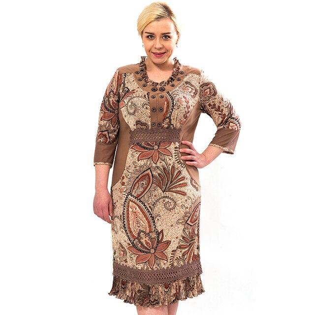 2015 новинка женщины одеваются летом три четверти рукава платья тонкий воланами подол свободного покроя платье Большой размер 7-2164