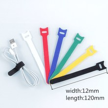 купить 20 Pcs Hook Loop Fasteners Flex Tape Wiring Harness Tapes Cable Ties for Computer Cable Earphone Winder Cable Home Storage Tools по цене 98.33 рублей