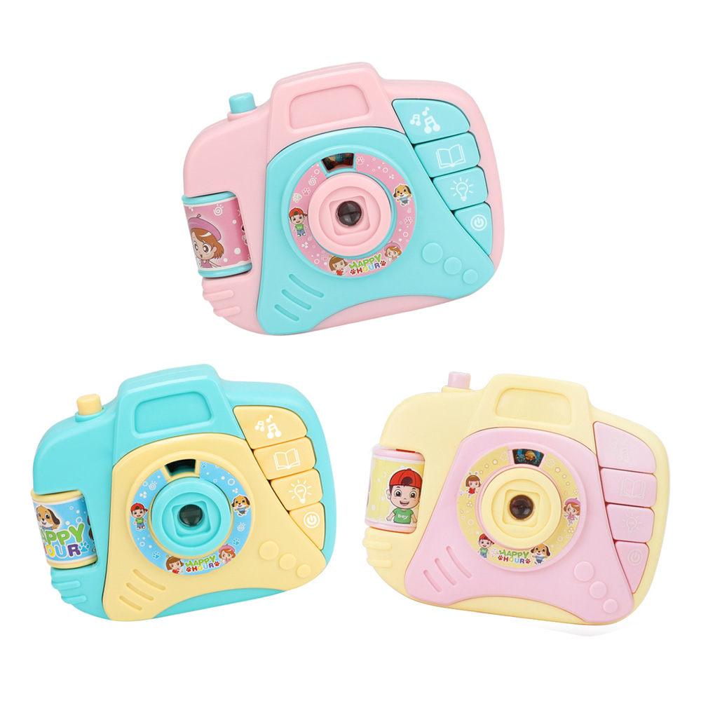 Educational Toys For Children Children Electric Mini Simulation Sound And Light Projection Camera Toys Baby Cartoon Plastic